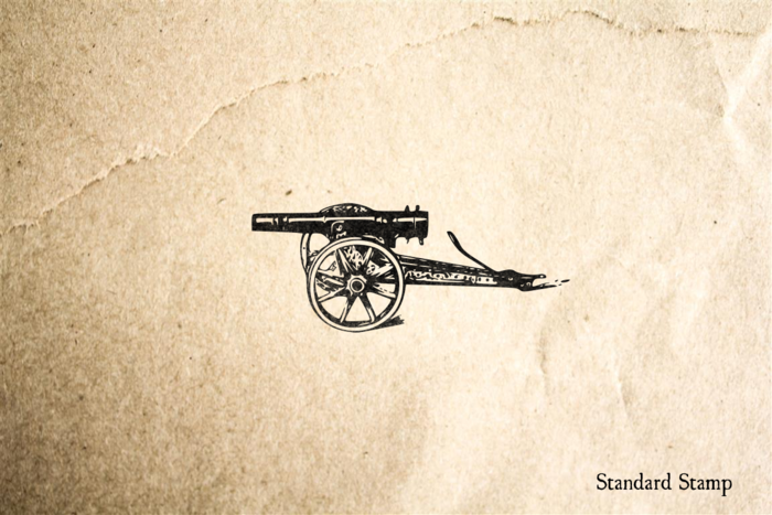 Antique Cannon 2 Rubber Stamp