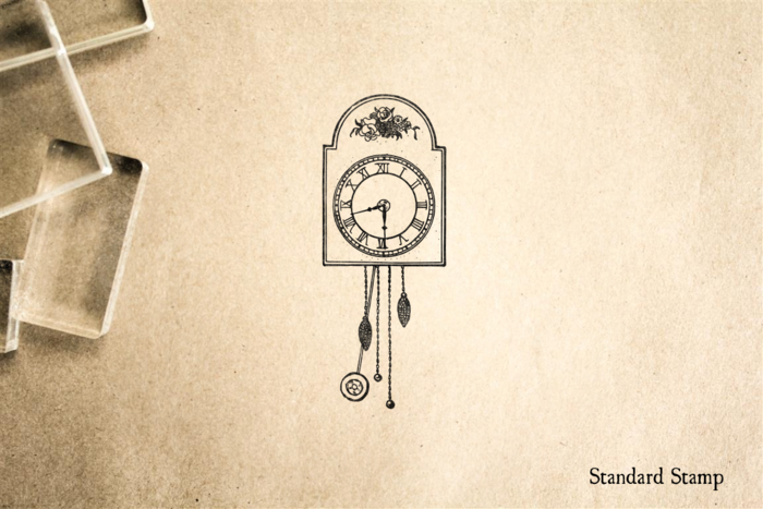 Antique Clock Rubber Stamp