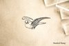 Antique Dove Rubber Stamp