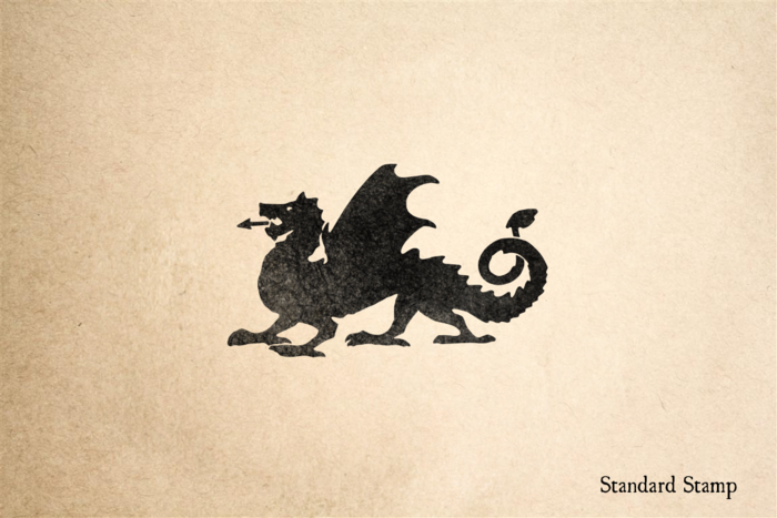 Antique Iron Dragon Rubber Stamp
