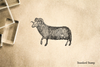Antique Mountain Goat Rubber Stamp