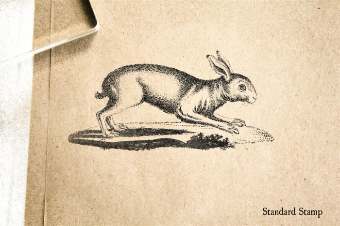 Antique Rabbit Rubber Stamp