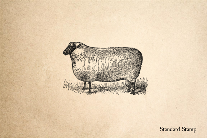 Antique Sheep Rubber Stamp