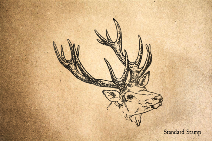 Antlers Rubber Stamp