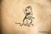 Anxious Mouse Rubber Stamp