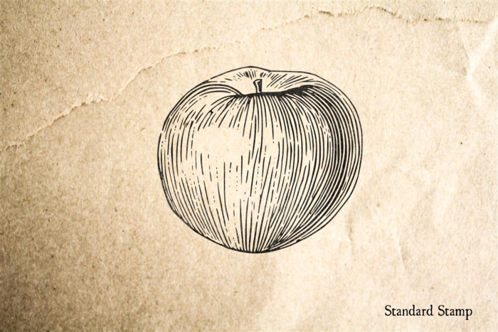 Apple Rubber Stamp