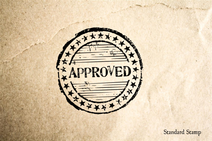 Approved Seal Rubber Stamp
