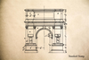 Arc de Triomphe Rubber Stamp