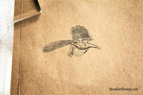 Archeopteryx Flying Rubber Stamp