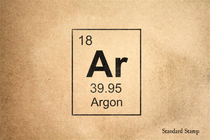 Argon Periodic Table Rubber Stamp