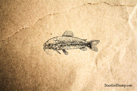 Armored Fish Rubber Stamp
