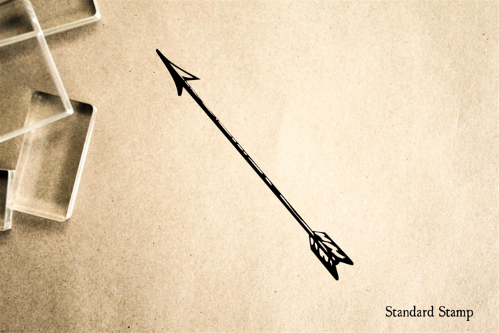 Indian Arrow Rubber Stamp