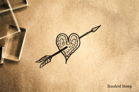 Arrow in Heart Rubber Stamp