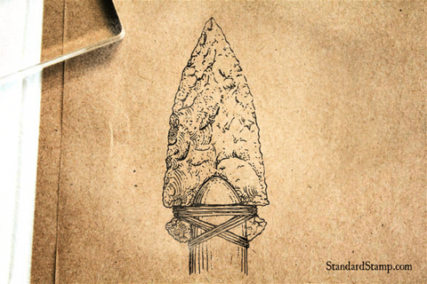 Stone Arrowhead Rubber Stamp