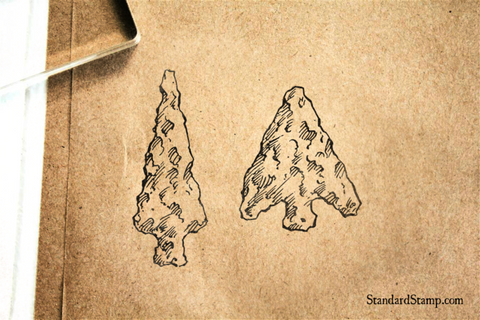 Arrowheads Rubber Stamp