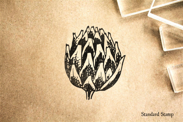 Artichoke Rubber Stamp