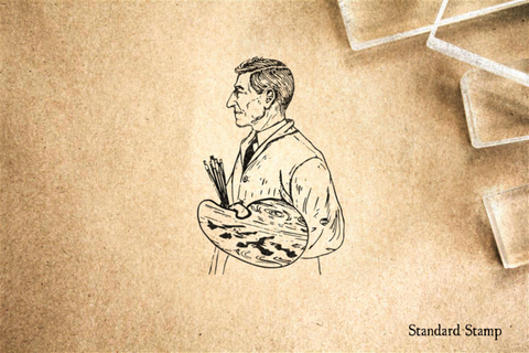 Artist Profile Rubber Stamp