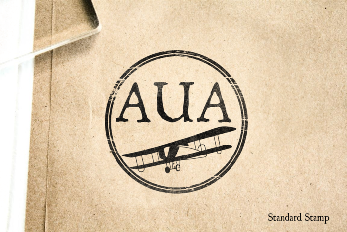 Aruba Airport Rubber Stamp
