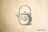 Asian Tea Pot Rubber Stamp