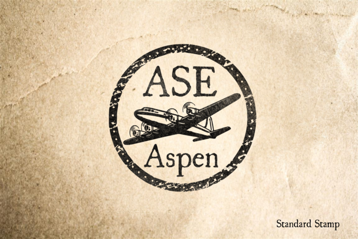 Aspen Colorado Rubber Stamp