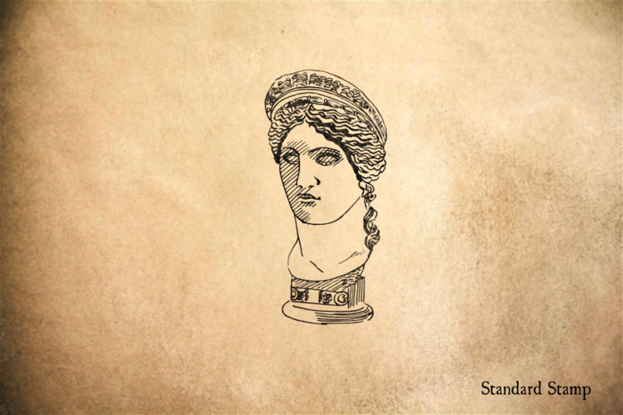 Athenian Statue Bust Rubber Stamp