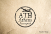 Athens Greece Rubber Stamp
