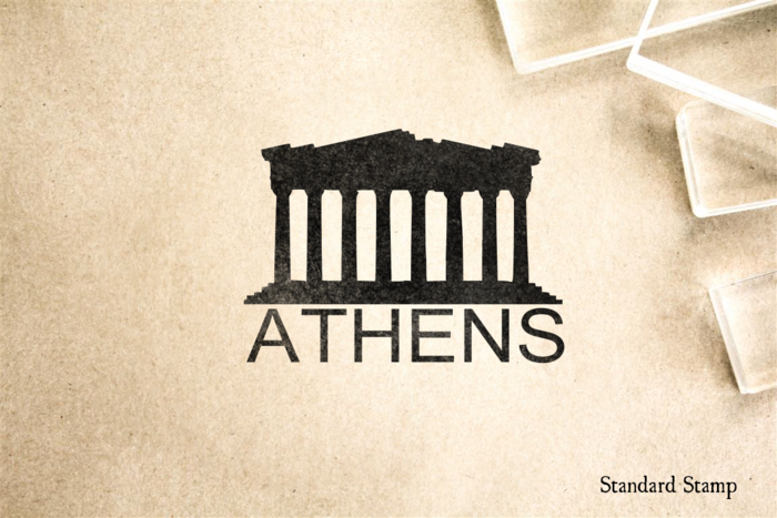 Athens Parthenon Rubber Stamp