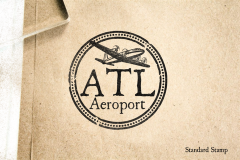 Atlanta Travel Rubber Stamp