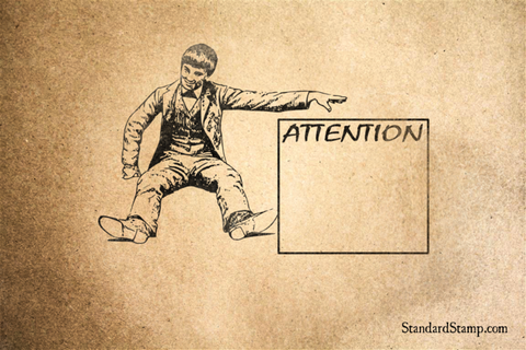 Attention Rubber Stamp