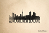 Aukland Skyline Rubber Stamp