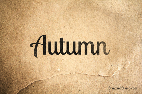 Autumn Rubber Stamp