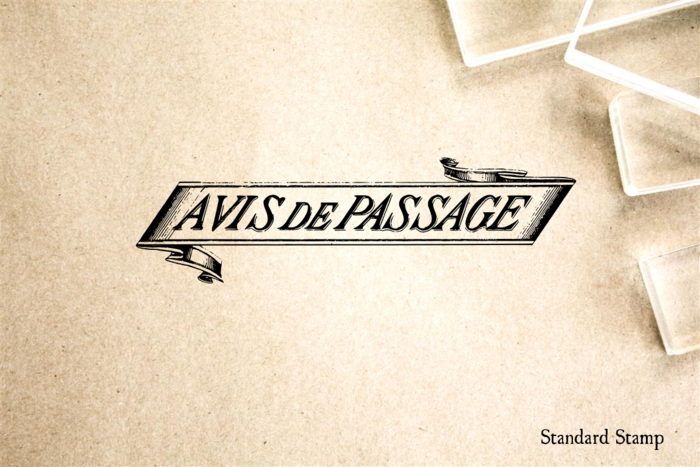 Avis de passage Rubber Stamp