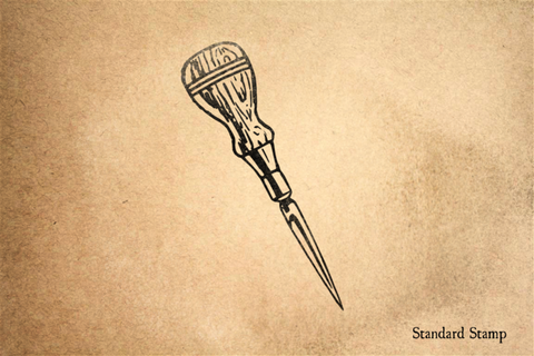 Awl Rubber Stamp