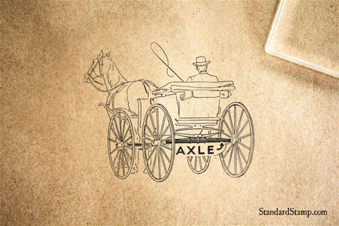 Axle Carriage Rubber Stamp
