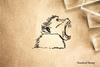 Ape Bust Rubber Stamp