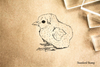 Baby Chick Sitting Rubber Stamp