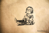 Baby Sitting Rubber Stamp