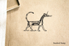 Babylonian Unicorn Rubber Stamp