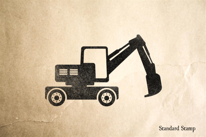 Backhoe Rubber Stamp
