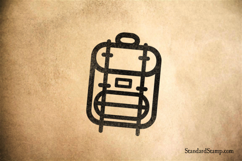 Backpack Rubber Stamp