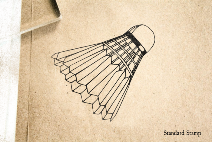 Badminton Rubber Stamp