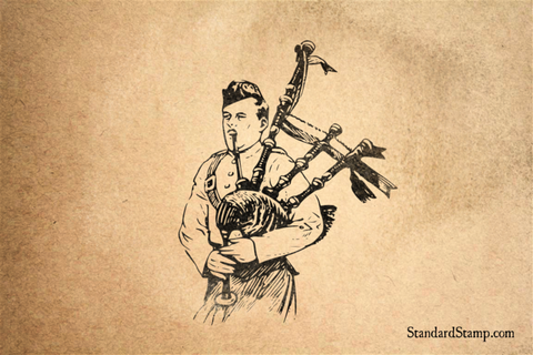 Bagpipes Rubber Stamp