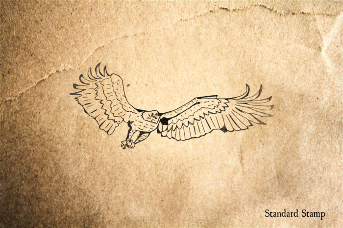 Bald Eagle Rubber Stamp