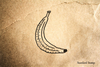 Banana Rubber Stamp