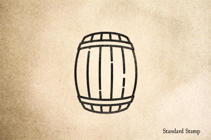 Barrel Rubber Stamp
