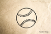 Baseball Rubber Stamp