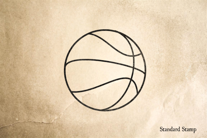 Basket Ball Rubber Stamp