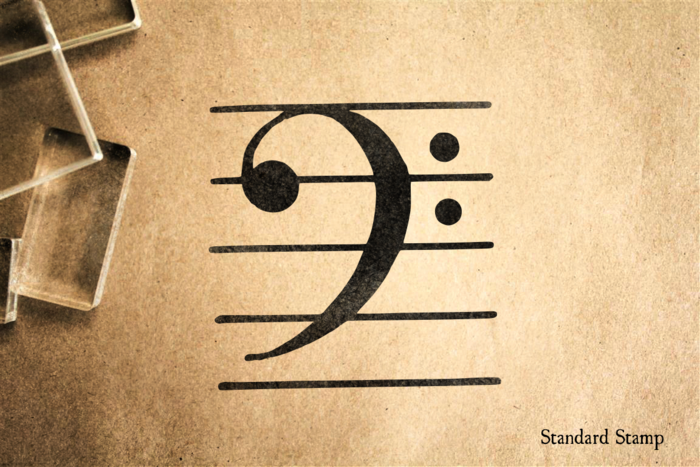 Bass Clef Rubber Stamp