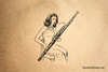 Bassoon Rubber Stamp