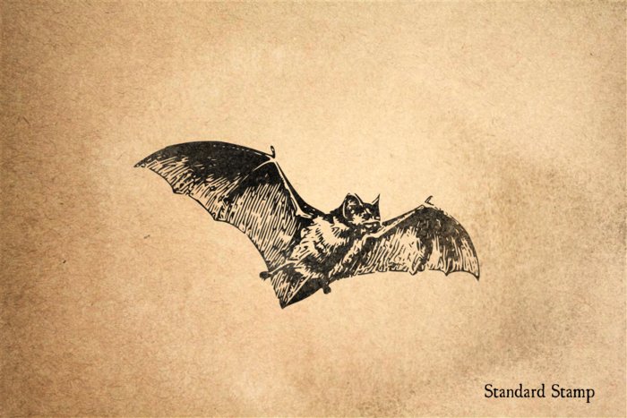 Bat Rubber Stamp